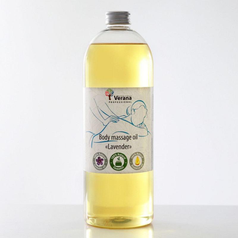 Body massage oil Verana Professional, Lavender 1 liter