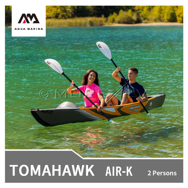 Dvivietis pripučiamas kajakas su irklu Aqua Marina Tomahawk 440x78 cm (AIR-K-440)