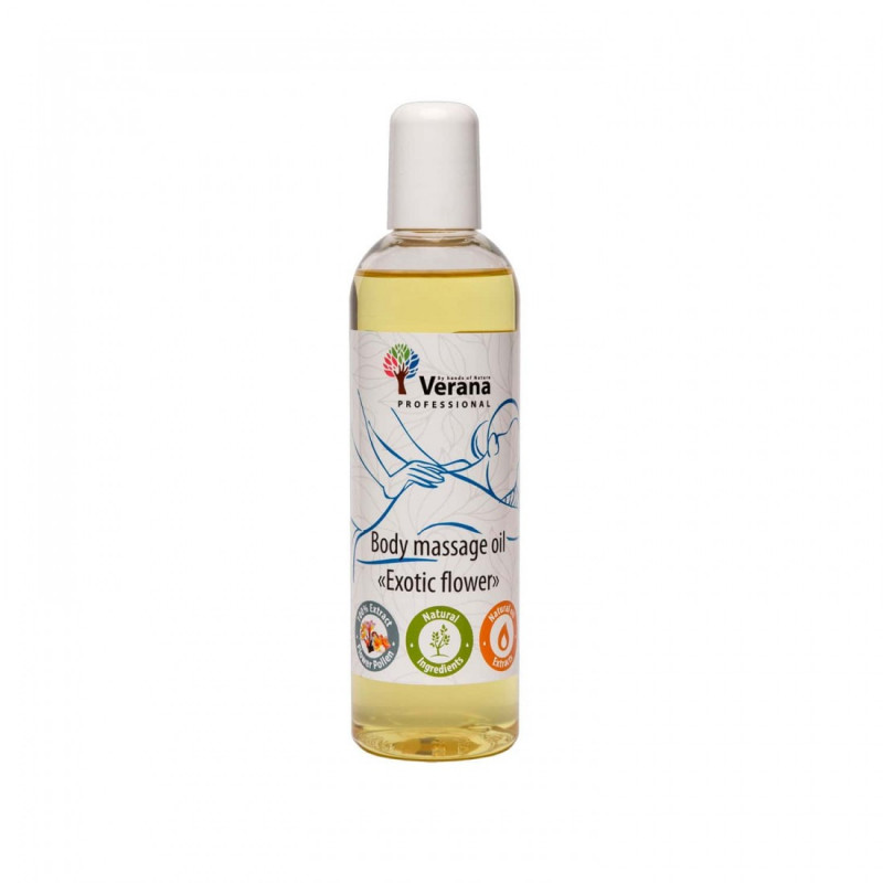 Body massage oil Verana Professional, Exotic flower 250ml