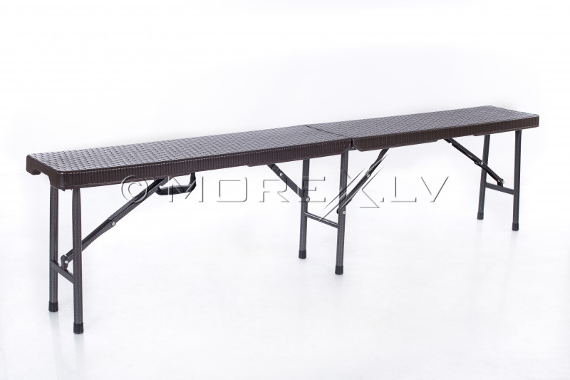 Rotango dizaino sulankstomas stalas 180x72 cm + 2 Sulankstomas suolelis