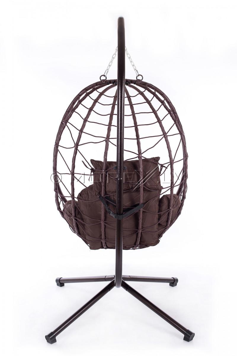 Pakabinamas krėslas-sūpuoklės kiaušinis sulankstomas EGG-1, ant stovo