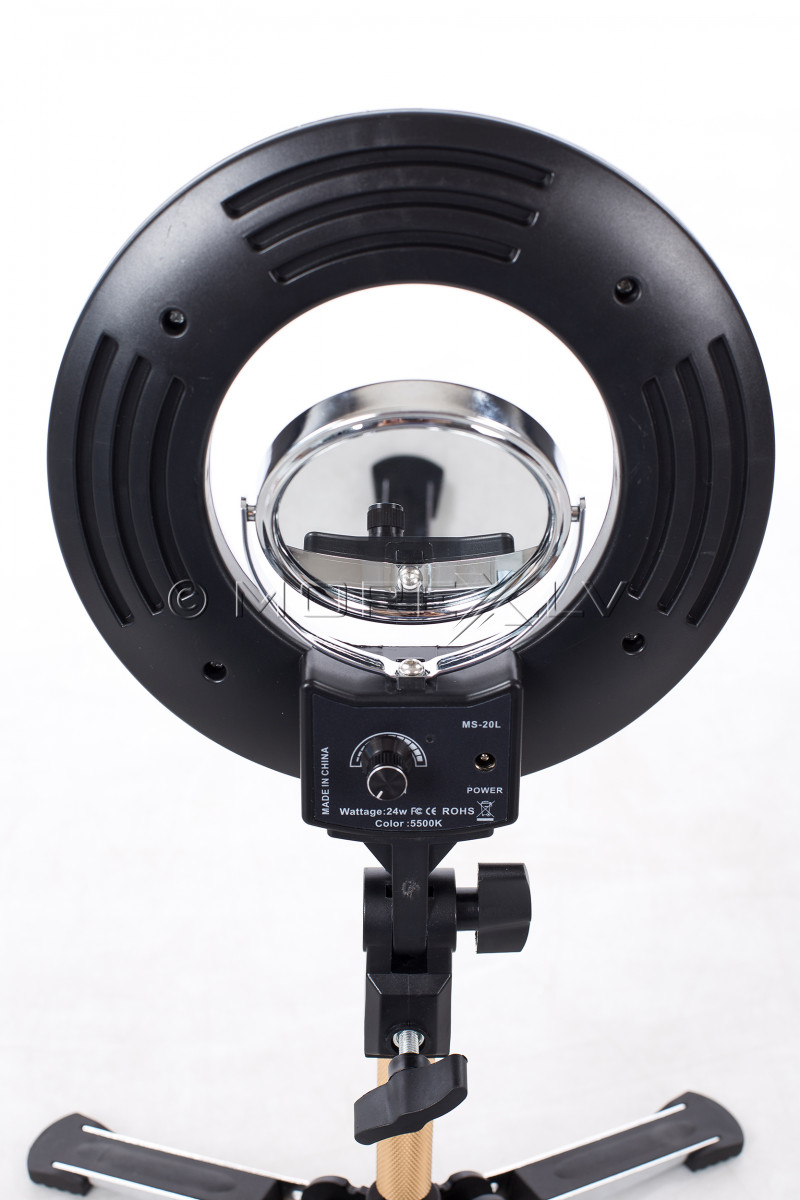 Žiedinė LED lempa vizažistui, Ø20 cm, 24W (9601LED-8)