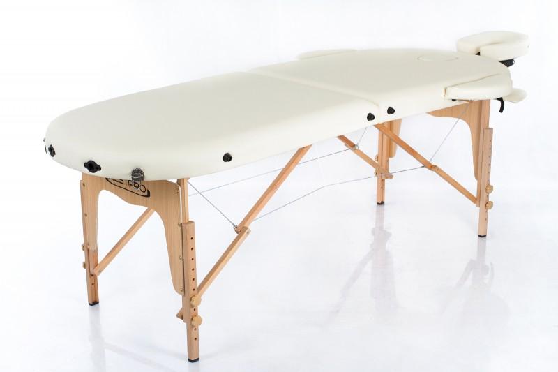 RESTPRO® Classic Oval 2 Cream Massage Table +Massage Bolsters