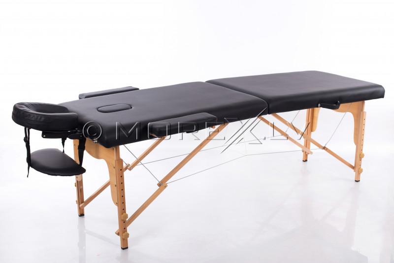 Sulankstomas masažo stalas Juoda 185x60 cm