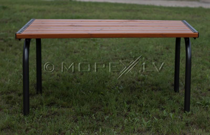 Sodo stalas su mediniu stalviršiu, 151x86x73 cm