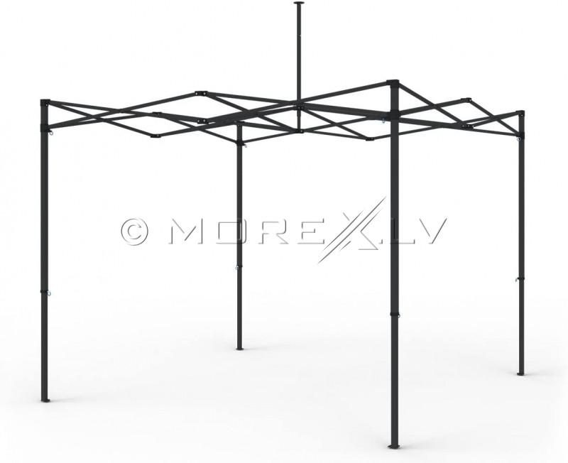 """""""Pop Up"""" mobili sulankstoma palapinė su stogu  2.92x2.92 m, H serijos (balta, plieninis karkasas, poliesteris 420D)"""