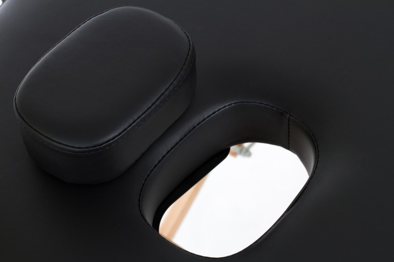RESTPRO® VIP OVAL 3 BLACK Massage Table + Massage Bolsters