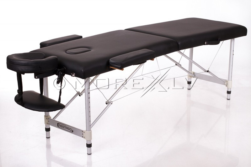 RESTPRO® ALU 2 S Black Massage Table - Massage Bolsters