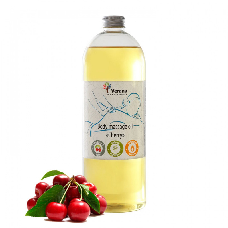 Body massage oil Verana Professional,Cherry 1 liter