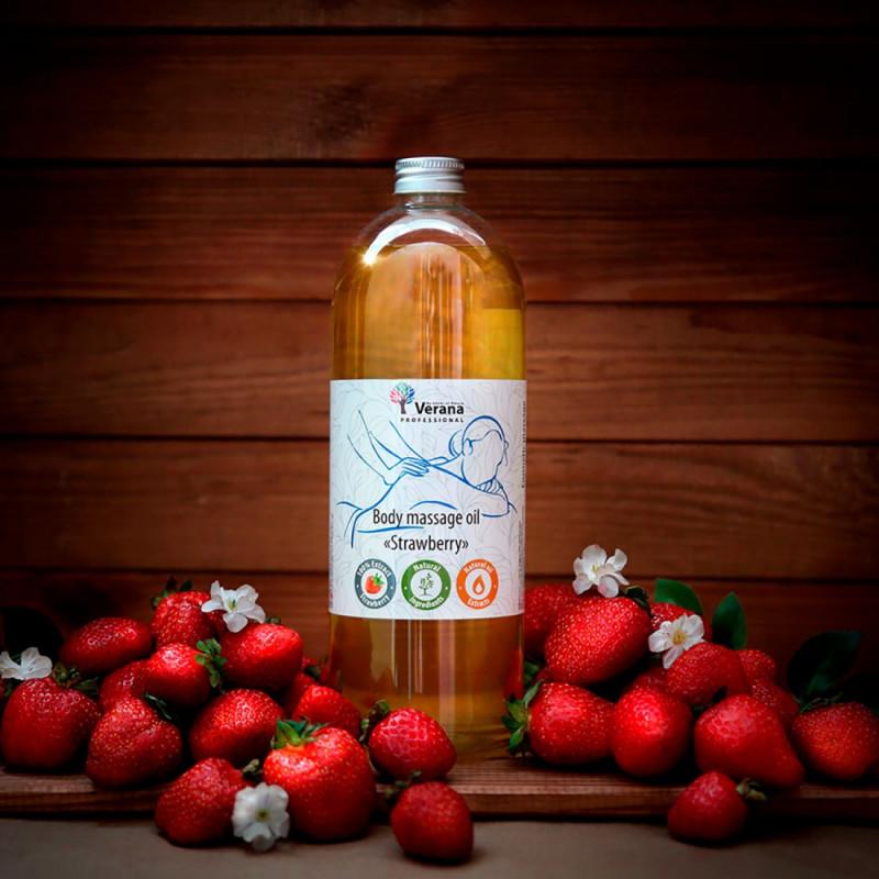 Body massage oil Verana Professional, Strawberry 1 liter