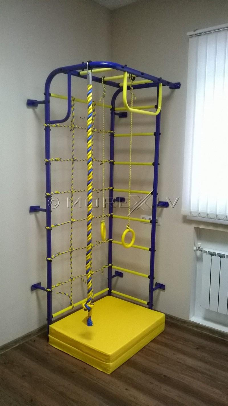 Vaikiškas geltonos ir mėlynos spalvos sportinis kompleksas Pionier 108