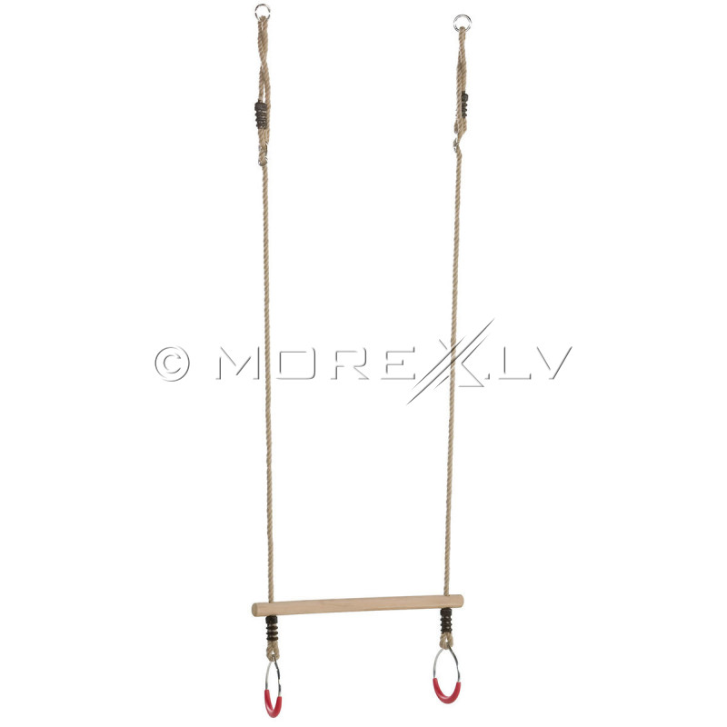 Wooden trapeze with metal rings КВТ, 580/120 mm