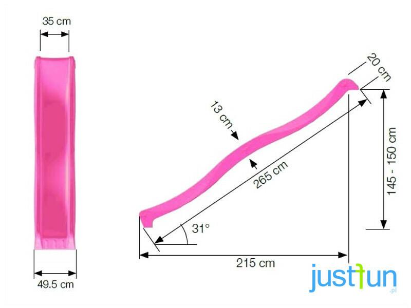 """Just-Fun čiuožykla """"Vilnelė"""", 150 cm aukščio,  žalsva"""