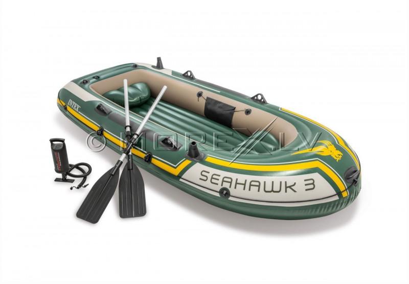 Pripučiama guminė valtis Intex SEAHAWK 3 BOAT SET (295х137x43)