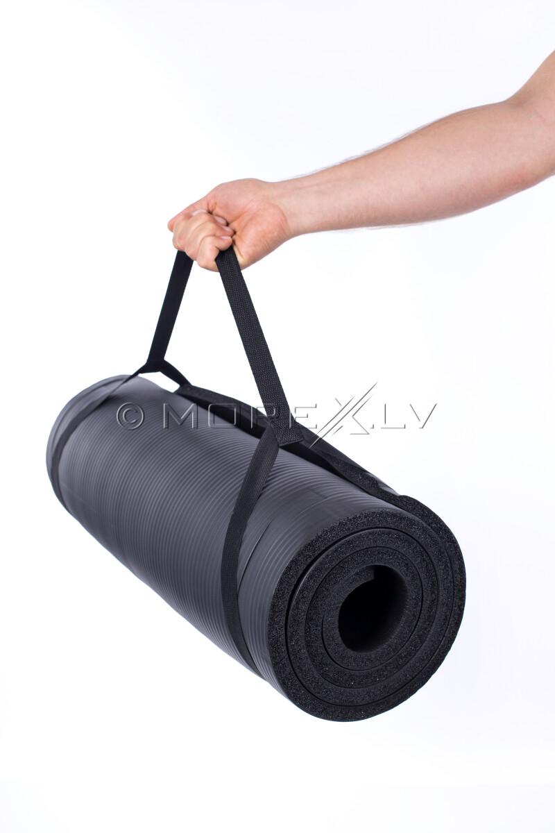 Gimnastikos yoga fitness pilates kilimėlis 179х1,5х60 cm, juoda