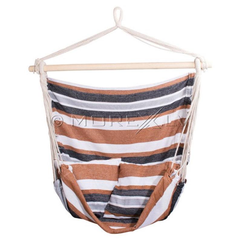 Krėslas-hamakas su pagalvėmis, 150x100 cm