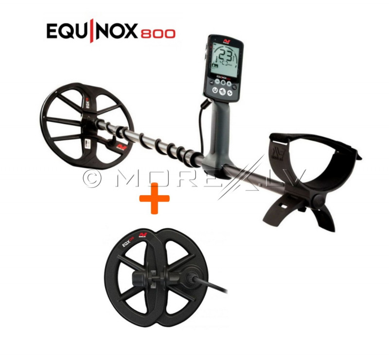 "Metalo Detektoriai Minelab Equinox 800+Atspari vandeniui 6"" ritė Equinox"