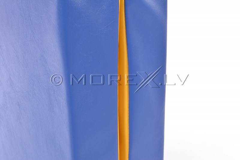 Leather safety mat 66x120cm blue-yellow