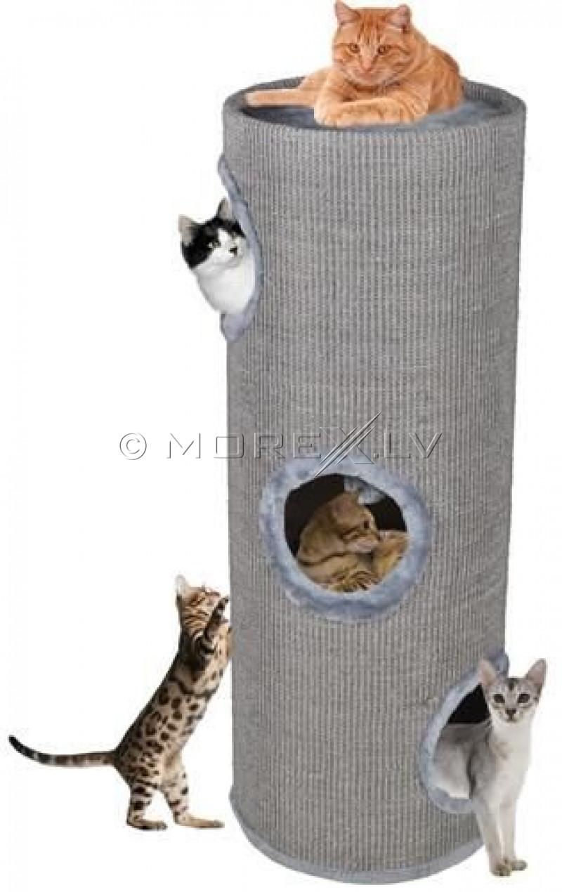 Draskyklė-namelis katėms CAT005P-3, 100 cm, pilka