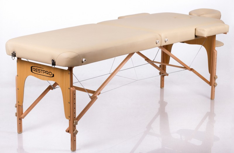 Sulankstomas masažo stalas – kušetė RESTPRO® Memory 2 Beige
