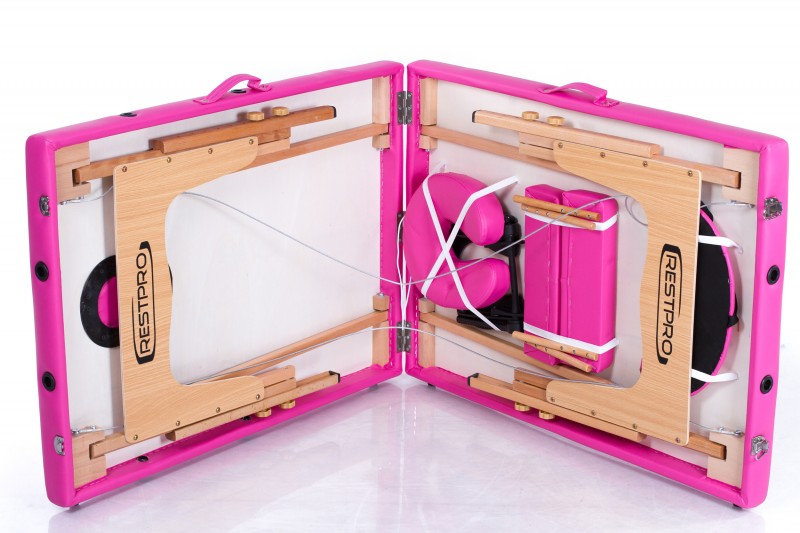 RESTPRO® Classic-2 Pink Massage Table + Massage Bolsters