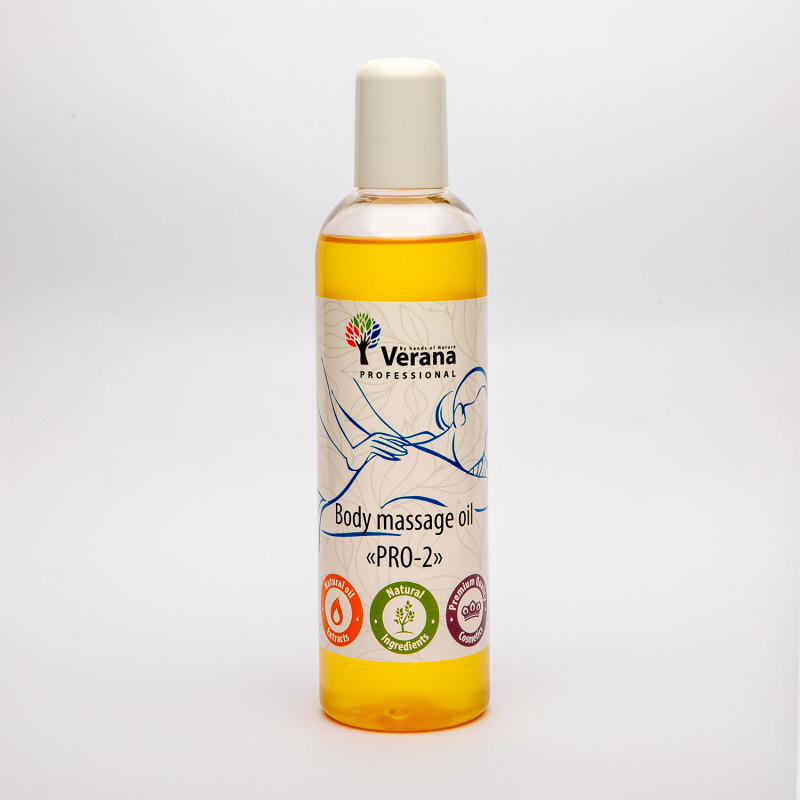 Body massage oil Verana Professional, PRO-2, 250ml (without aroma)