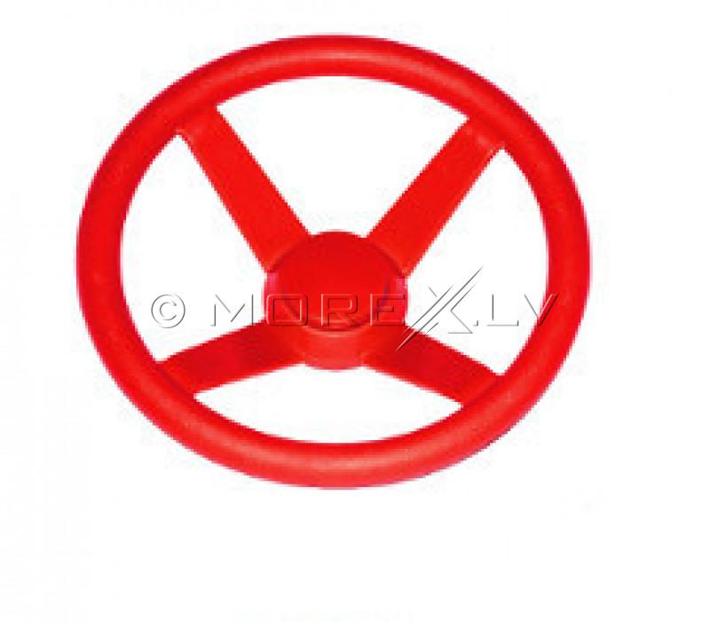 """Just-Fun vaikiškas vairaratis """"Mažasis vairuotojas"""", Ø 30 cm, raudonas"""