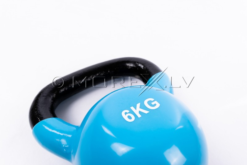 Metal Kettlebell With Vinyl Coating 6 kg