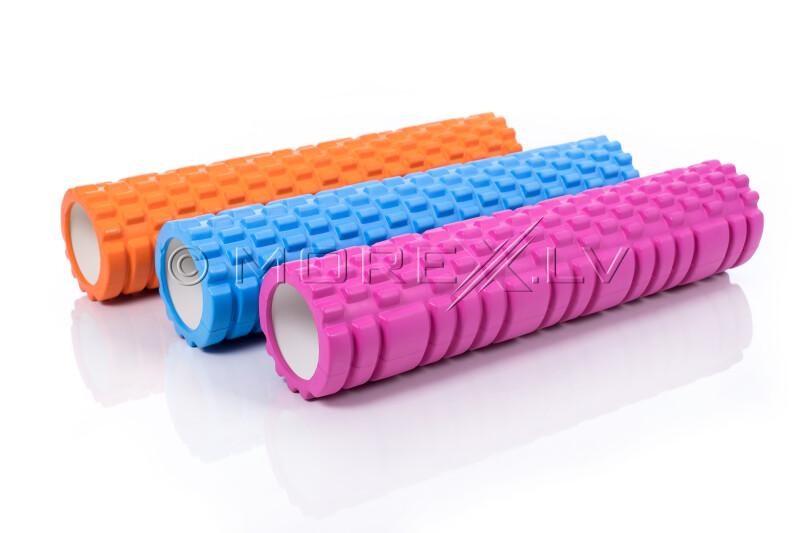 Massage Foam Roller Yoga Roller 14x62cm, rožinis