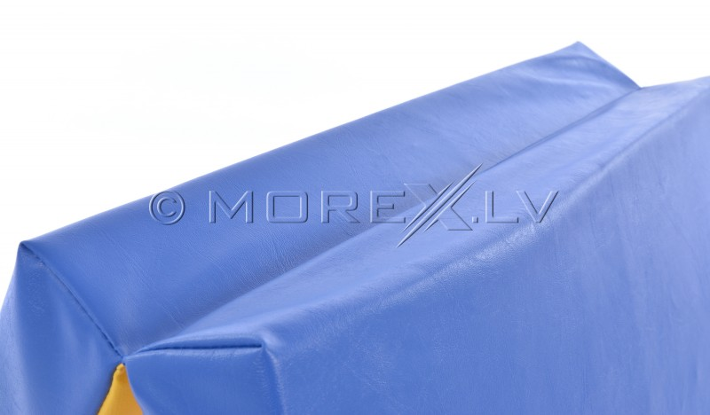 Leather safety mat 66x160cm blue-yellow