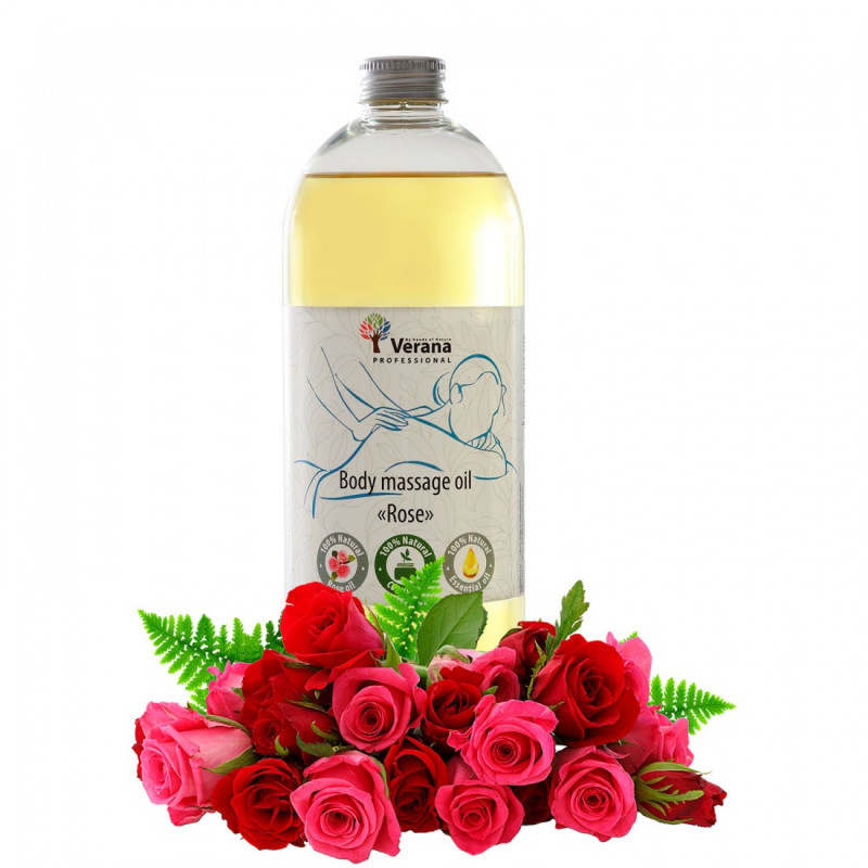 Body massage oil Verana Professional, Rose flower 1 liter