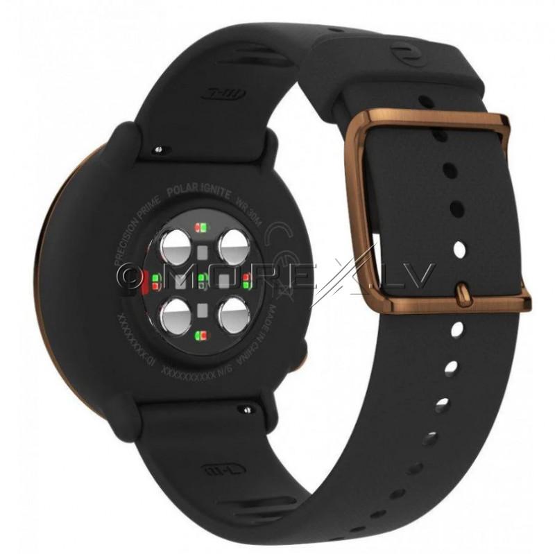 Sportinius laikrodžius POLAR IGNITE BLACK-COPPER, M/L