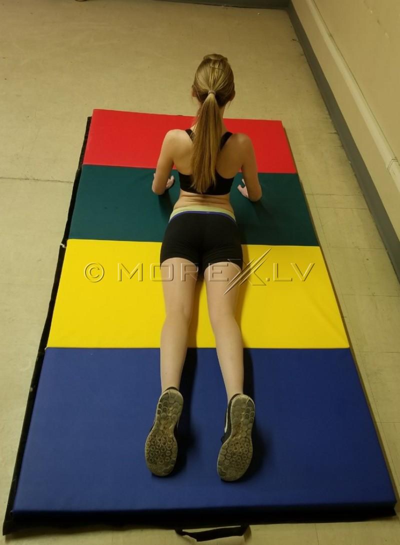 Gimnastikos kilimėlis 116x232cm daugiaspalvis YM-R4