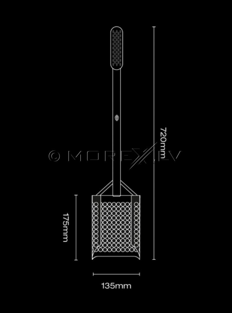 Shovel Extended Black Ada Sandscoop (Stainless Steel)