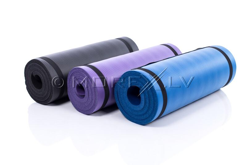 Gimnastikos yoga fitness pilates kilimėlis 179х1,5х60 cm, violetinė