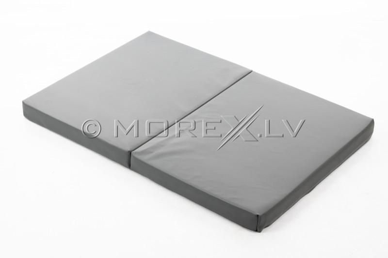 Leather safety mat 80x120 cm, pilkas