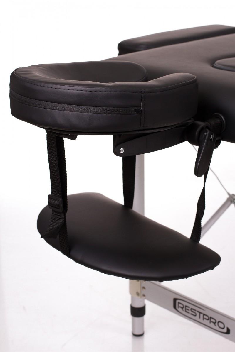 RESTPRO® ALU 2 (S) Black sulankstomas masažo stalas