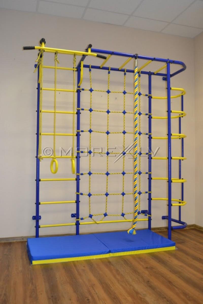 Mėlynai geltonas vaikiškas sporto kompleksas Pioner-S5S