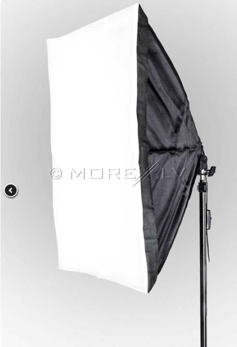 Komplektai Monohead 85W, Softbox 50x70cm, Light Stand (foto_03688)