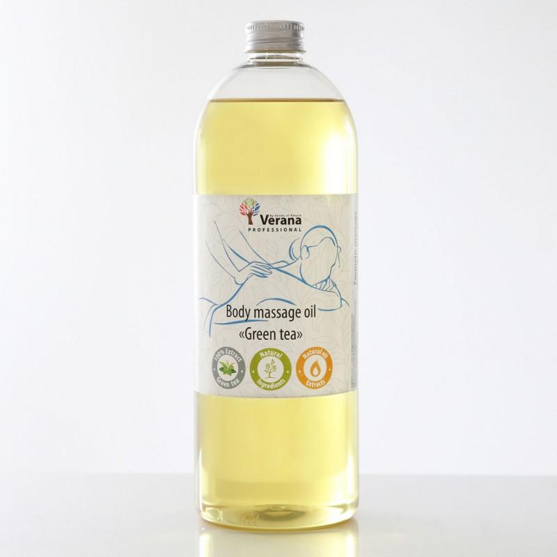 Body massage oil Verana Professional, Green tea 1 lite