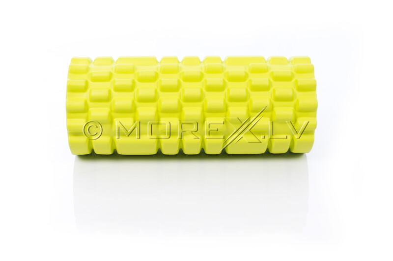 Masažo jogos ritinėlis Grid Roller 30x10cm, gelsvai žalsva