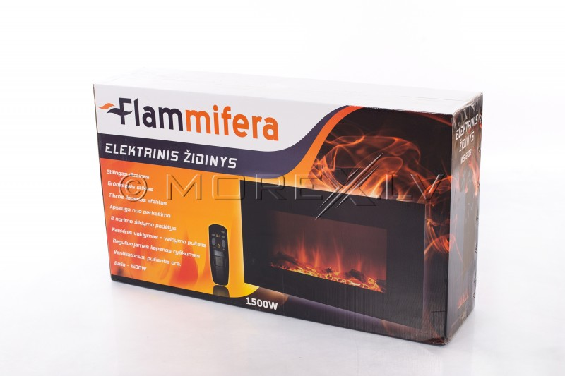 "FLAMMIFERA Panoramic electric fireplace WSG03 33"" (840x450x140mm)"
