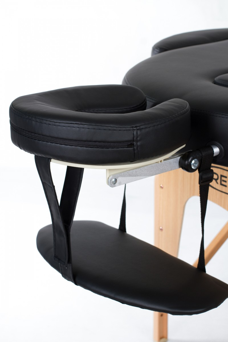 RESTPRO® VIP OVAL 2 BLACK Massage Table + Massage Bolsters
