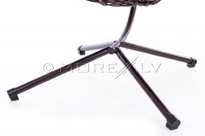Pakabinamas krėslas-sūpuoklės kiaušinis sulankstomas, ant stovo