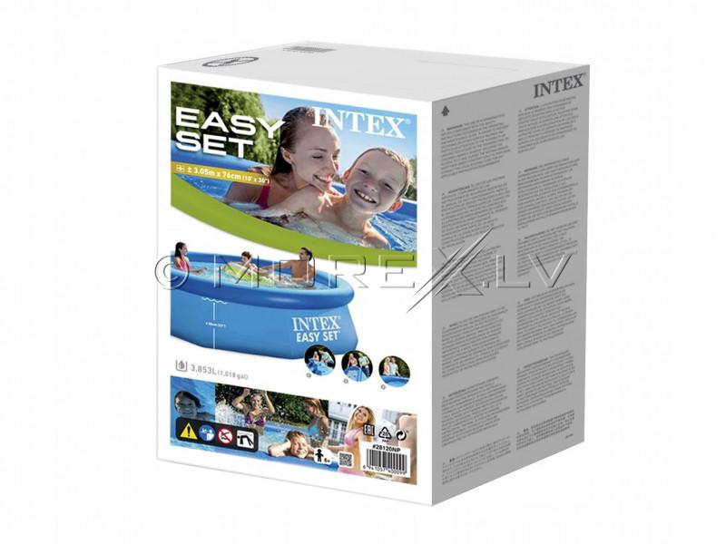 Pripučiamas baseinas Intex Easy Set Pool 305х76 cm, su filtruojančiu siurbliu (28122)