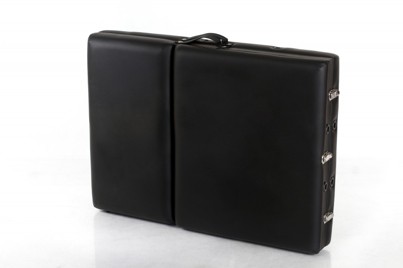 RESTPRO® Classic-3 Black Portable Massage Table + Massage Bolsters
