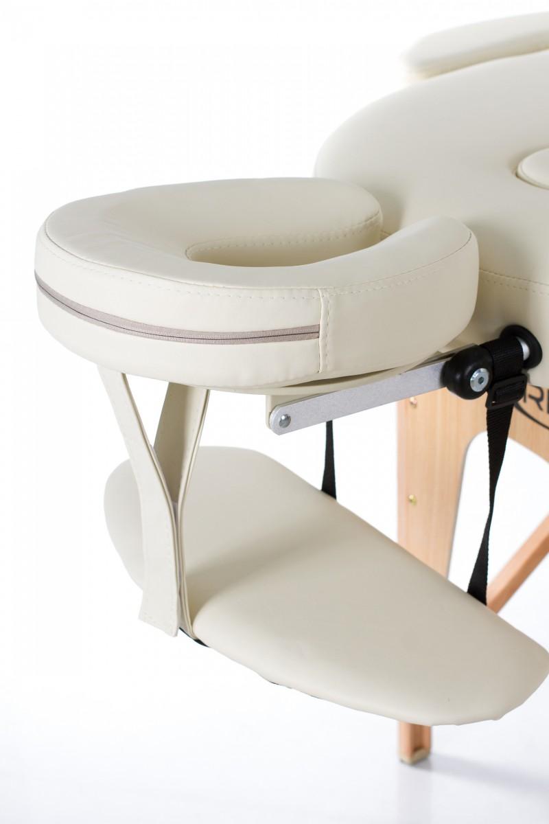 RESTPRO® VIP OVAL 2 CREAM sulankstomas masažo stalas
