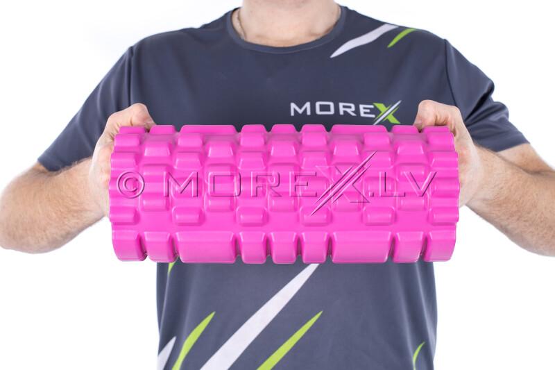 Masažo jogos ritinėlis Grid Roller, rožinis