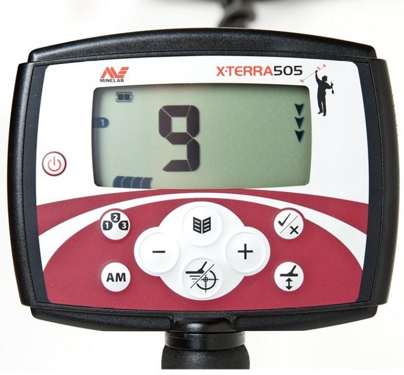 "Metalo Detektoriai Minelab X-Terra 505 with 10.5"" 7.5kHz DD + GIFT (3705-0111)"
