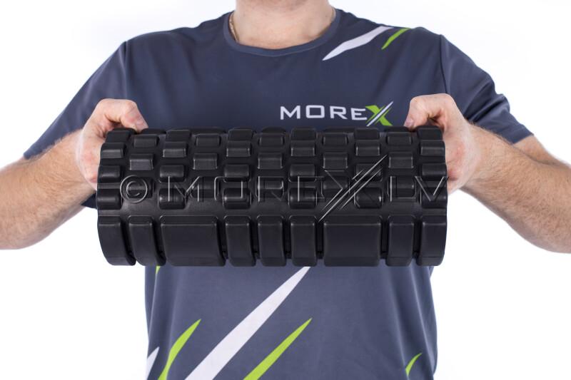 Masažo jogos ritinėlis Grid Roller, juoda